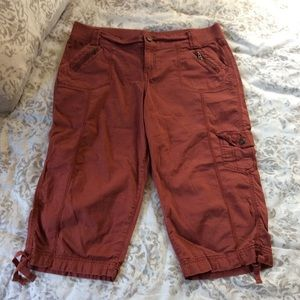 Burnt Red Cargo Shorts